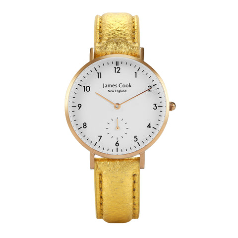 Bay Piñatex Gold Feminino 32mm