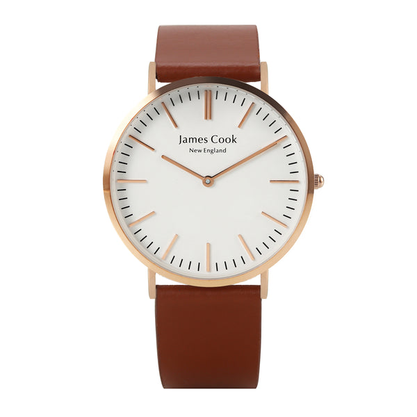 Heritage Cambridge Liso Masculino Rosé 40mm Gold