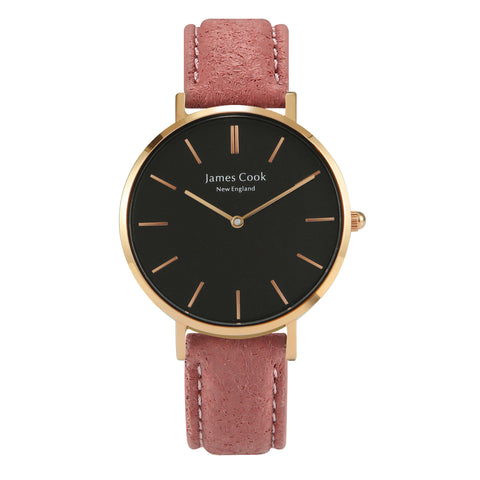 Heritage Black Piñatex Blush Feminino Rosé Gold 32mm