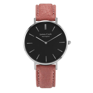 Heritage Black Piñatex Blush Feminino Prata 32mm