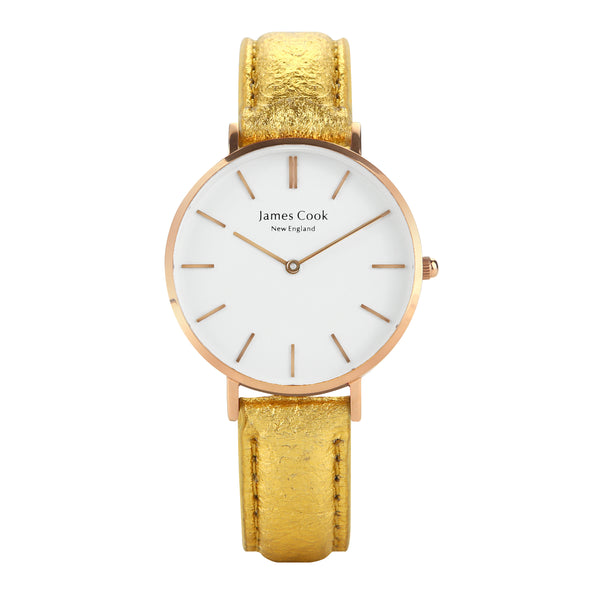 Heritage Piñatex Gold Feminino 32mm