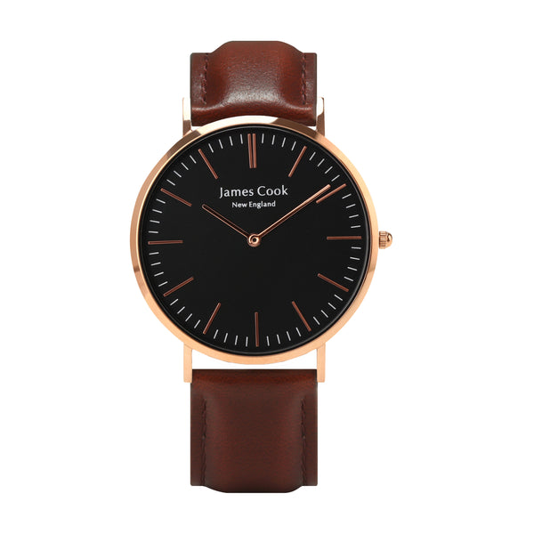 Heritage Black Cambridge Masculino Rosé Gold 40mm