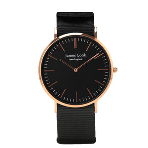 Heritage Black Rockport Masculino Rosé Gold 40mm