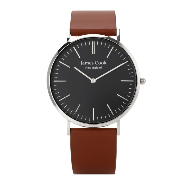 Heritage Black Cambridge Liso Masculino 40mm Prata