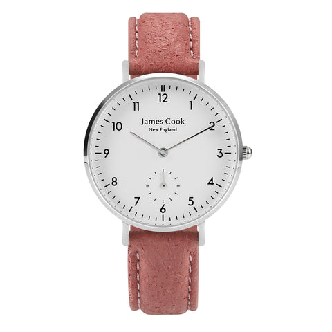 Bay Piñatex Blush Feminino Prata 32mm