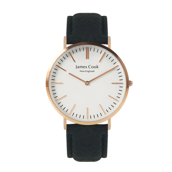 Heritage Piñatex Charcoal Masculino Rosé Gold 40mm