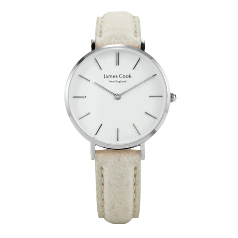 Heritage Piñatex Natural Feminino Prata 32mm