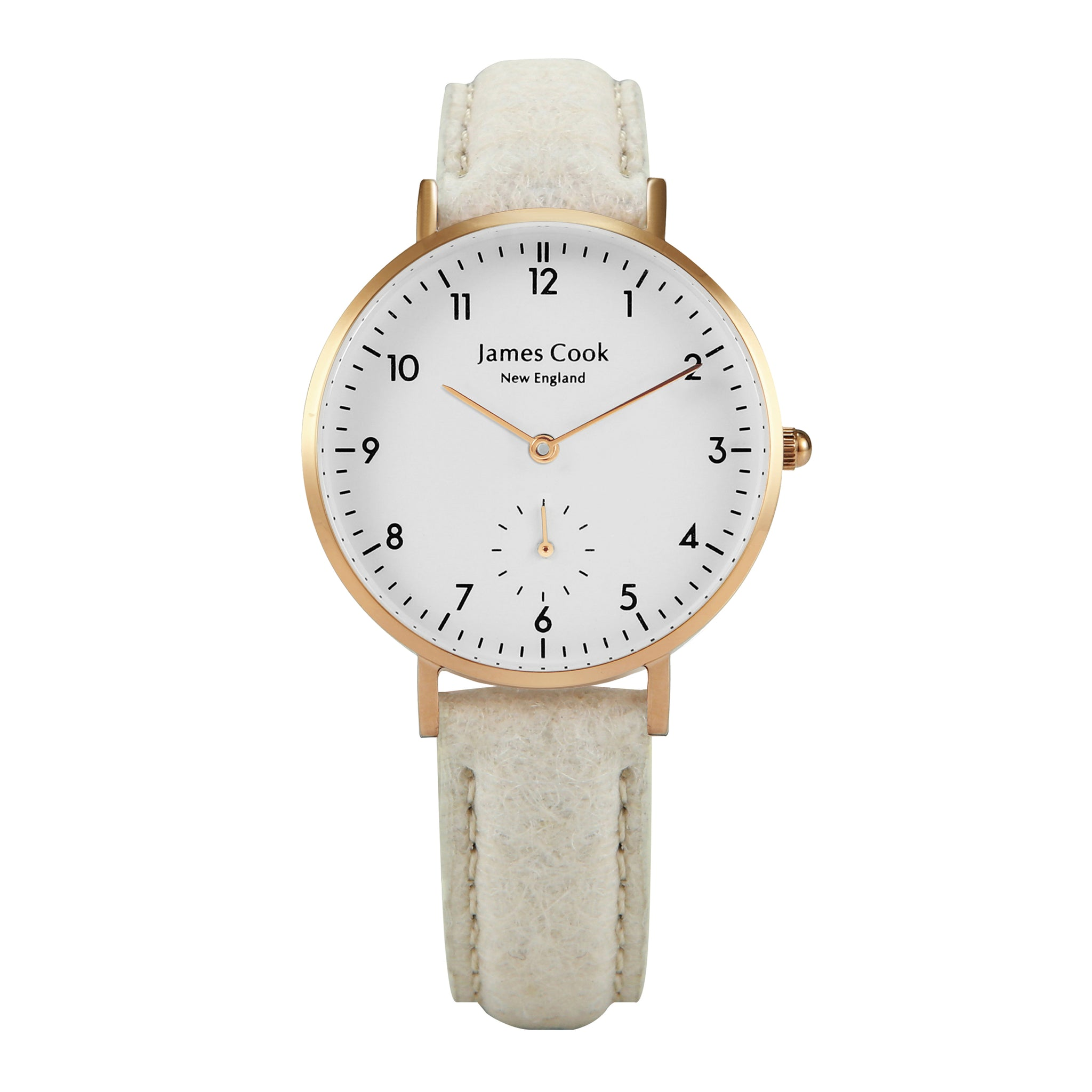 Bay Piñatex Natural Feminino Rosé Gold 32mm