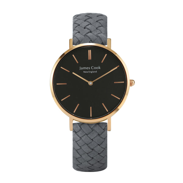 Heritage Black Lowell Feminino Rosé Gold 32mm