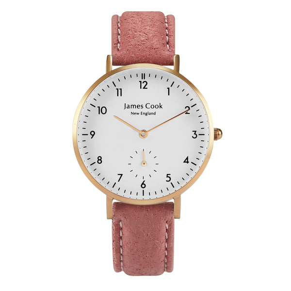 Bay Piñatex Blush Feminino Rosé Gold 32mm