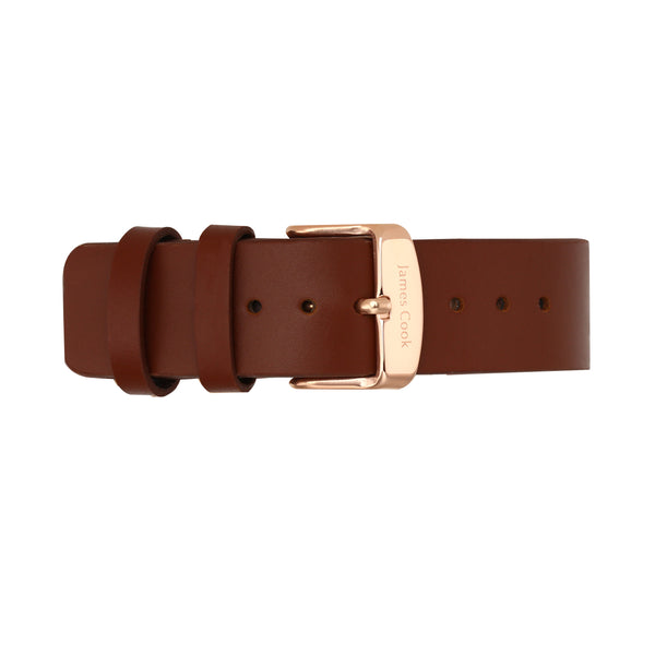 Heritage Black Cambridge Liso Masculino Rosé Gold
