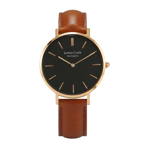 Heritage Black Cambridge Feminino Rosé Gold 32mm