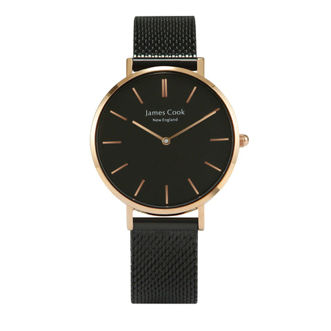 Heritage Black Boston Feminino Rosé Gold 32mm