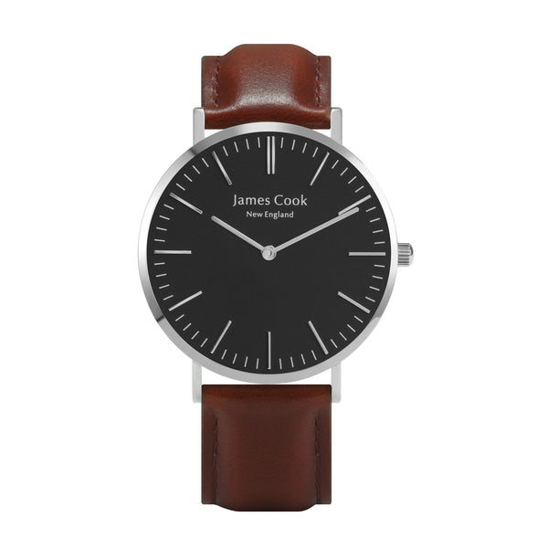 Heritage Black Cambridge Masculino Prata 40mm