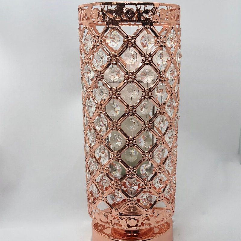 Electric Wax Burner - Rose Gold Jewelled Burner - Olfactory Candles