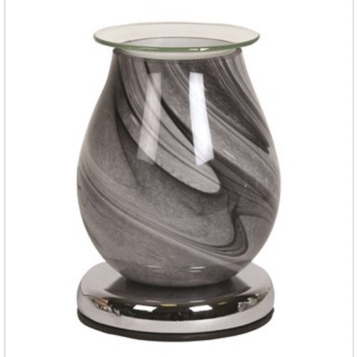 Electric Wax Melt Burner - Grey Swirl - Olfactory Candles
