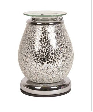 Electric Wax Melt Burner - Silver Mosaic Touch - Olfactory Candles