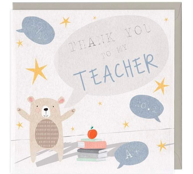 Thank You To My Teacher Card - Olfactory Candles