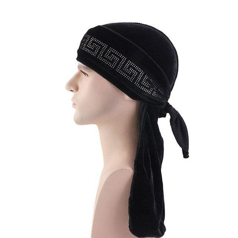 Black velvet durag luminous - Durag-Shop