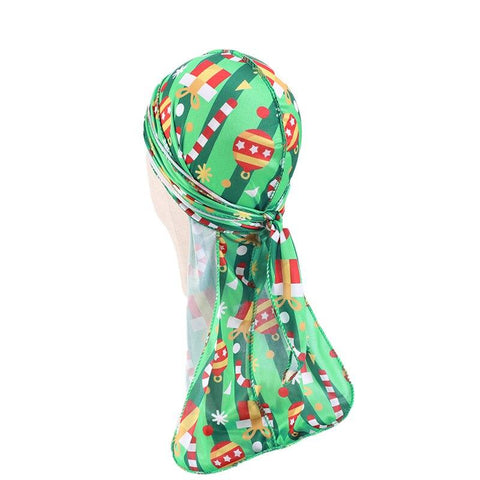 Green durag children christmas - Durag-Shop