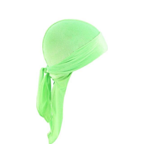 Light green velvet durag long tail - Durag-Shop