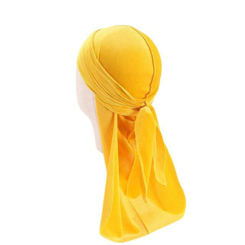 Yellow velvet durag children - Durag-Shop