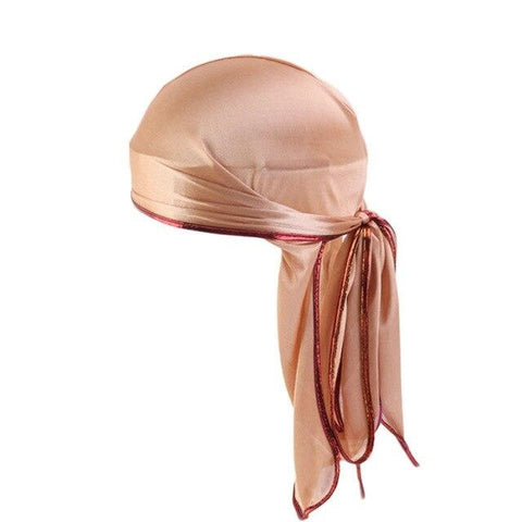 Durag marron bordures brillantes - DuragShop