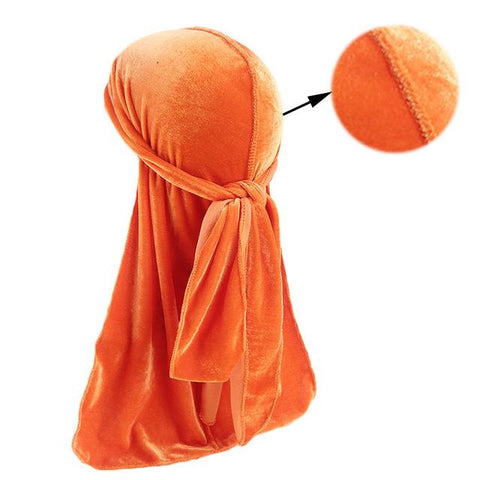 Durag orange en velours - DuragShop