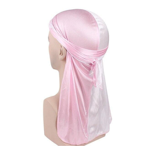 Durag blanc et rose - Durag-Shop