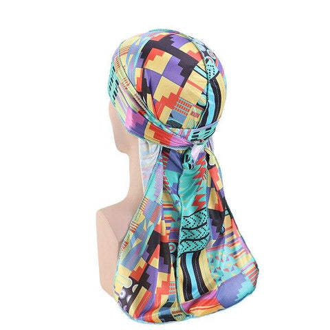 Durag bleu multicolore - Durag-Shop
