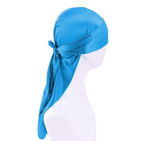 Durag bleu satin - Durag-Shop
