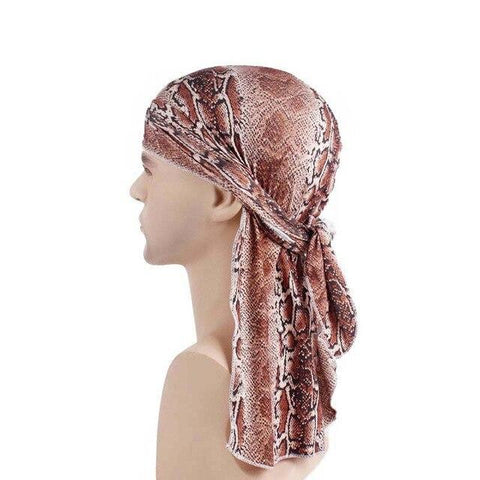 Durag marron léopard - Durag-Shop