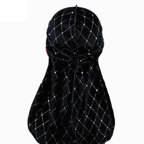 Durag noir velours brillant - Durag-Shop