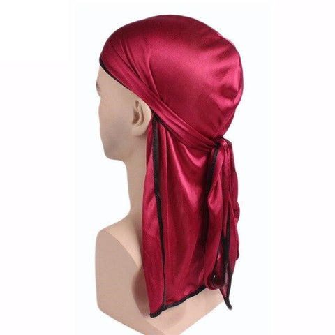 Durag rouge bordures noires - Durag-Shop