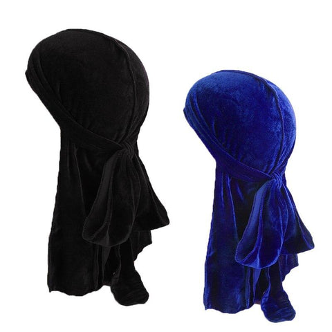 Black and blue velvet durag pack - Durag-Shop