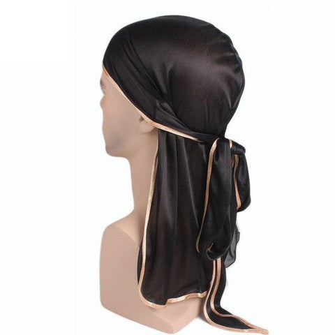 Black durag golden borders - Durag-Shop