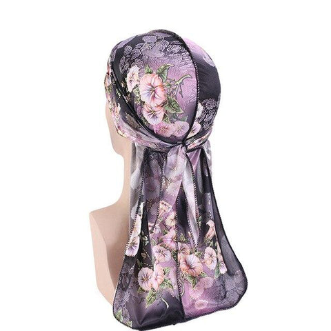 Black and pink durag with flowers - Durag-Shop