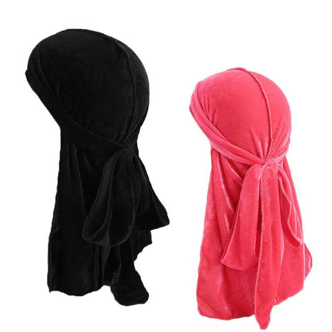 Black and pink velvet durag pack - Durag-Shop