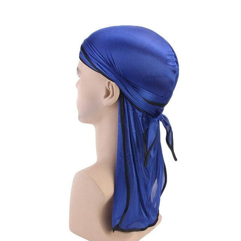 Blue durag black borders - Durag-Shop