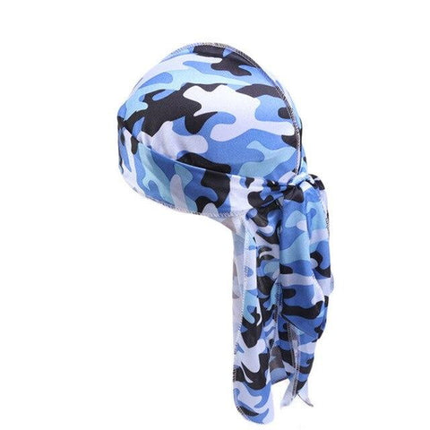 Durag with blue camouflage - Durag-Shop