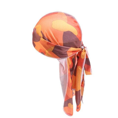 Durag with orange camouflage - Durag-Shop