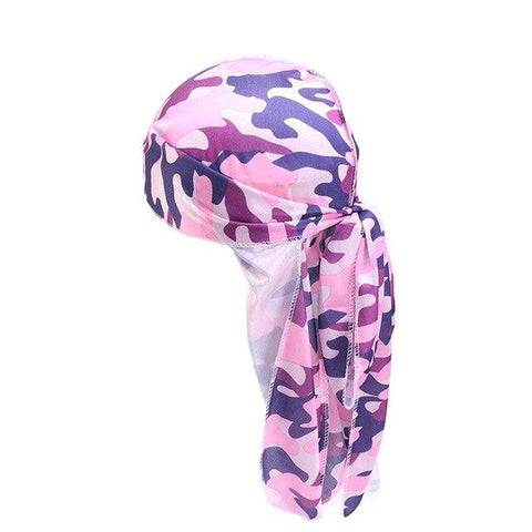 Pink and blue durag camouflage - Durag-Shop