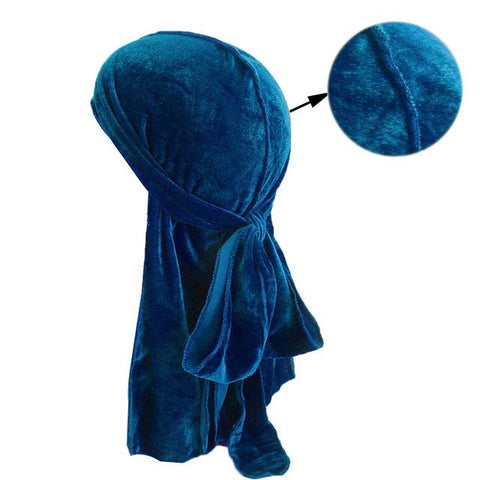 Light blue velvet durag - Durag-Shop