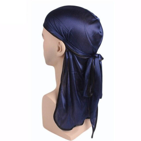 Navy blue durag black borders - Durag-Shop