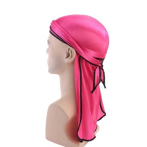 Pink durag black borders - Durag-Shop