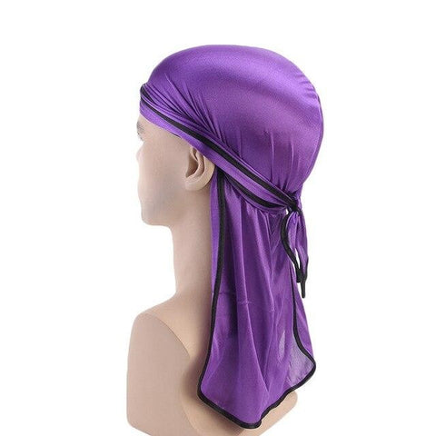 Purple durag black borders - Durag-Shop