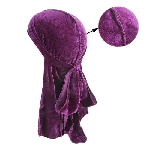 Purple velvet durag - Durag-Shop