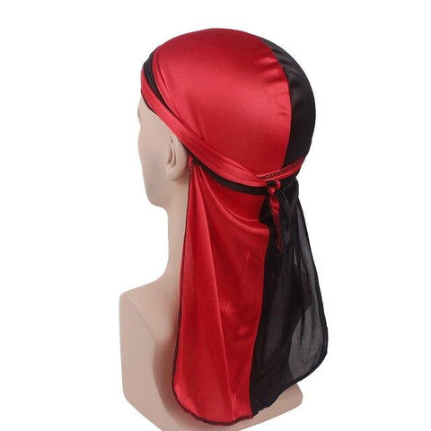 Red and black durag - Durag-Shop