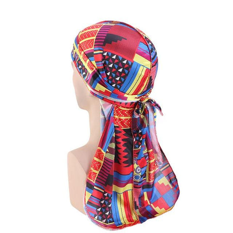 Red multicoloured durag - Durag-Shop