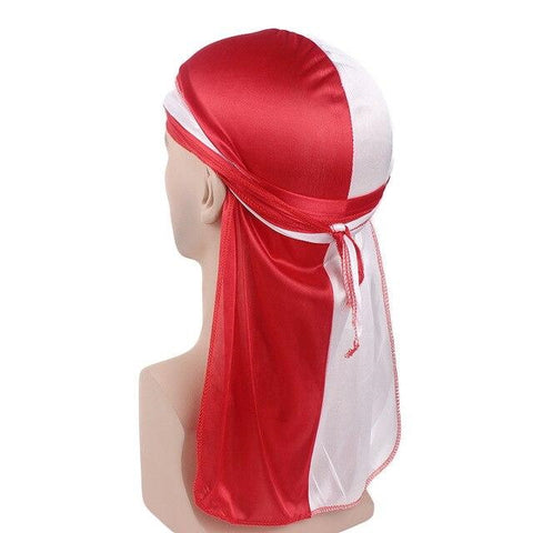 Red and white durag - Durag-Shop